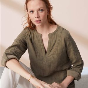 Lou & Grey / LOFT Pocket Palette Shirt M